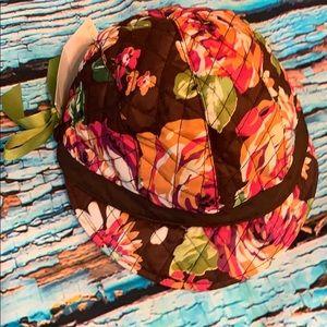 NWT Vera Bradley Newsgirl hat/cap I English Rose